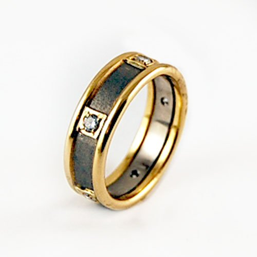 wedding rings bi color equinox jewelers portland oregon