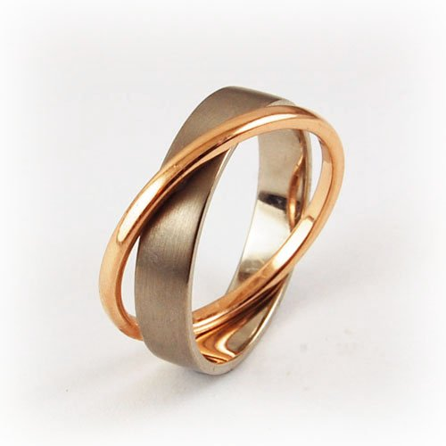 wedding rings bi color equinox jewelers portland oregon - Colored Wedding Rings