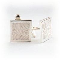 7.8009_Cuff_Links_Sterling_Silver_Murano