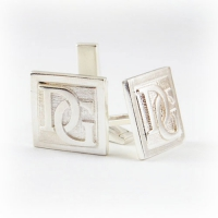 7.8013_Cuff_Links_Sterling_Silver_Initials