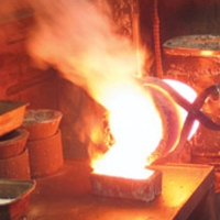 molten metal, crucible